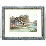 C. Fischer English Cottage Watercolour