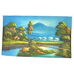 South East Asian Landscape Oil On Canvas