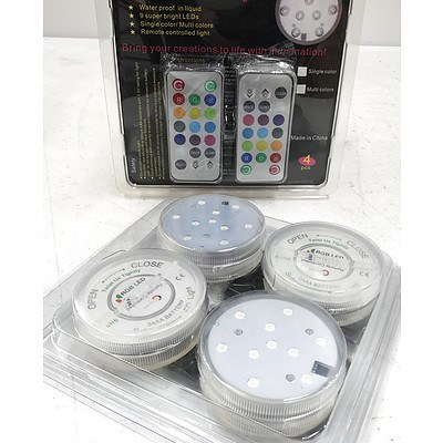 Multi Colour Submersible LED Lights - Lot of 32