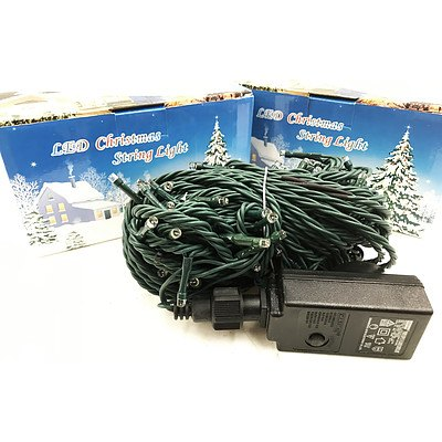 Warm White 10Metres LED Christmas String Lights - Lot of 16