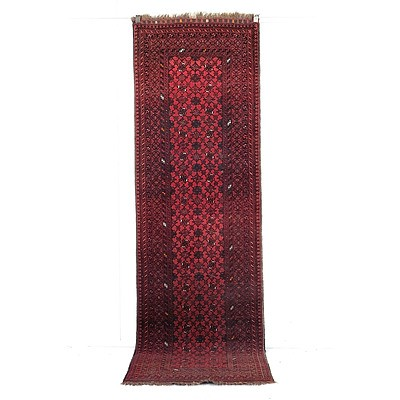Baluch Hand Knotted Wool Pile Runner