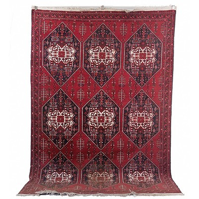 Hand Knotted Persian Baluch Wool Pile Carpet