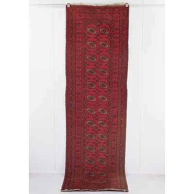 Hand Knotted Bokhara Wool Pile Runner