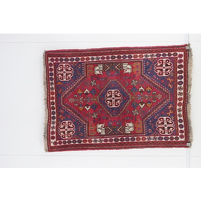 Persian Hamadan Hand Knotted Wool Pile Rug