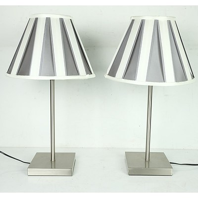 Pair of Contemporary Table Lamps
