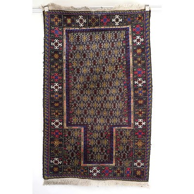 Eastern Hand Knotted Wool Pile Prayer Rug