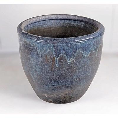 Large Glazed Ceramic Planter