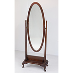 Antique Cheval Mirror Early 20th Century