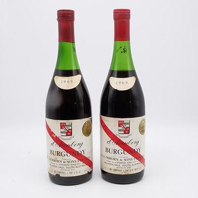 Two Bottles of D'Arenberg 1969 Burgundy 750ml