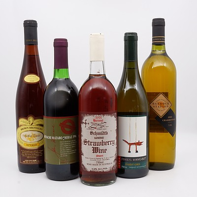 Group of Five Assorted Wines