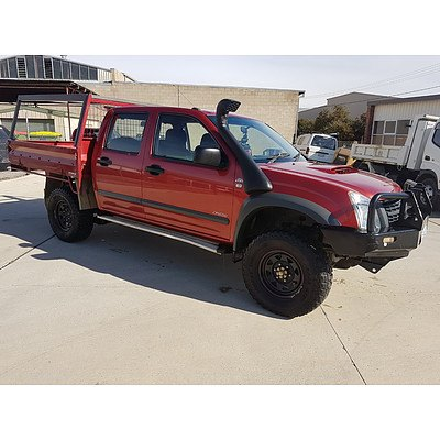 7/2007 Holden Rodeo LX (4x4) RA MY07 Crew C/chas Red 3.0L
