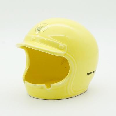 Unusual Honda Motorcycle Helmet Shaped Ashtray