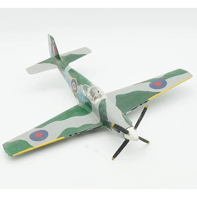 Hand Painted RAF Mustang III Model Plane