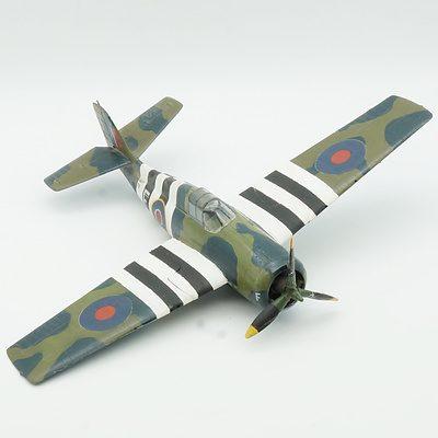 Hand Painted Royal Navy Grumman F4F Wildcat Model Plane
