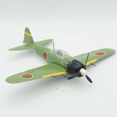 Hand Painted Japanese Mitsubishi A6M5 Zero Model Plane