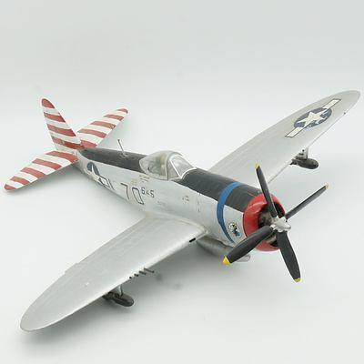Hand Painted United States Republic P-47 Thunderbolt Model Plane