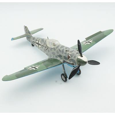 Hand Painted German Messerschmitt Bf 109 Model Plane