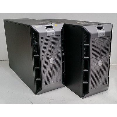 Dell PowerEdge 1900 Quad-Core Xeon (E5310) 1.60GHz and Xeon (E5320) 1.86GHz Tower Servers - Lot of Two