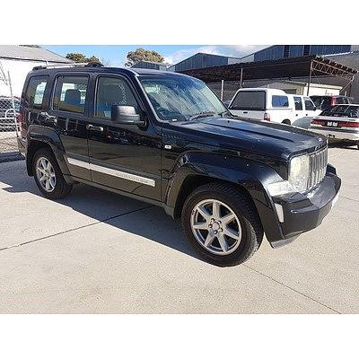 1/2010 Jeep Cherokee Limited (4x4) KK 4d Wagon Black 3.7L