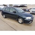 4/2000 Honda Odyssey (7 Seat)   4d Wagon Blue 2.3L