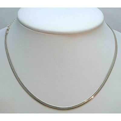 Sterling Silver Herringbone mesh Chain