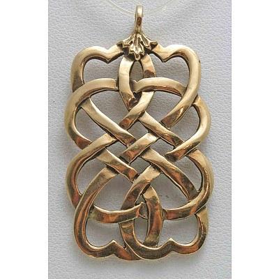 9ct Gold Celtic Weave Pendant