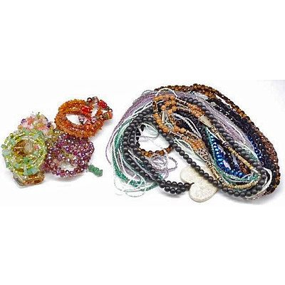 Huge collection of gem-stone and fashion jewellery