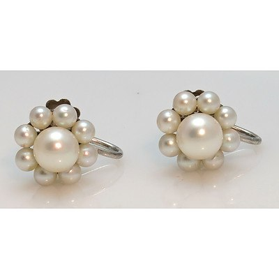 MIKIMOTO Silver Akoya Pearl Earrings
