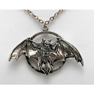 Pewter Bat Pendant
