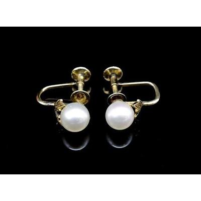 MIKIMOTO 14ct Pearl Earrings