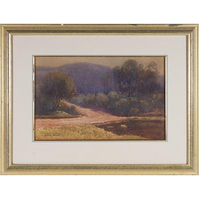 William Lister Lister (1859-1943) The Old Bush Bridge, Watercolour