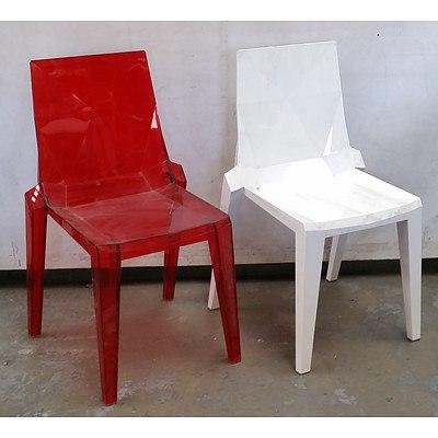 Four Retro Plastic Chairs