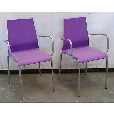 Pair of Purple BF Armchairs