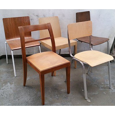 Group of Ten Various Wooden Chairs