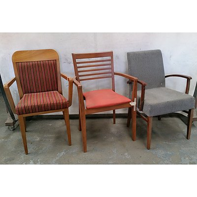 Large Group of Cushioned Armchairs