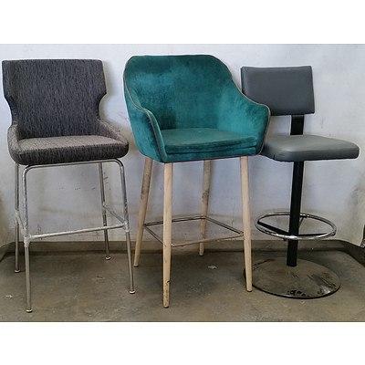 Three Cushioned Bar Chairs
