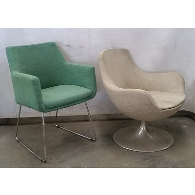 Four Retro Upholstered Chairs