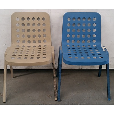 Modern Plastic Chairs - Lot Of 4