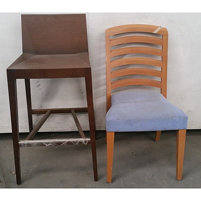 Timber Chairs & Stools - Lot Of 6