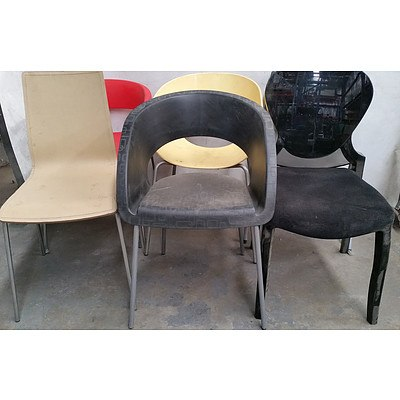 Contemporary Occasional Chairs Lot of Six