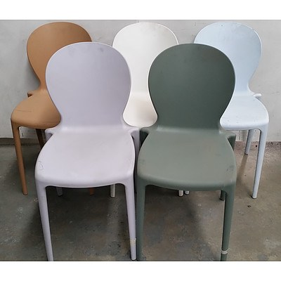 Contemporary Occasional Chairs Lot of Five