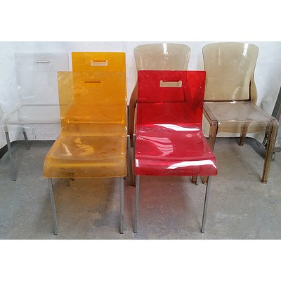 Contemporary Acrylic Occasional Chairs Lot of Six