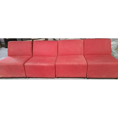 Modular Lounge Chairs - Lot of Four