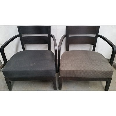 Contemporary Occasional Tub Chairs - Lot of Two