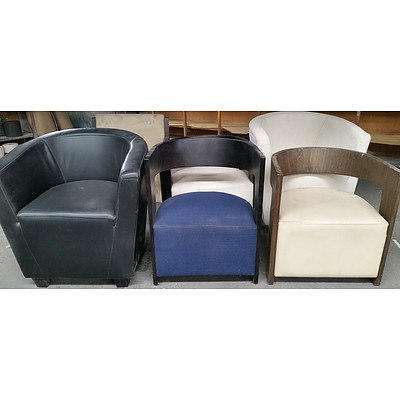 Contemporary Occasional and Tub Chairs - Lot of Six