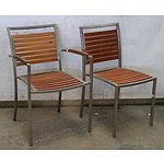 Four Outdoor Dining Chairs