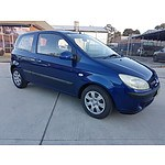 6/2006 Hyundai Getz 1.6 TB UPGRADE 3d Hatchback Blue 1.6L