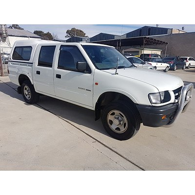 7/1998 Holden Rodeo LX TFR7 Crew Cab P/up White 3.2L