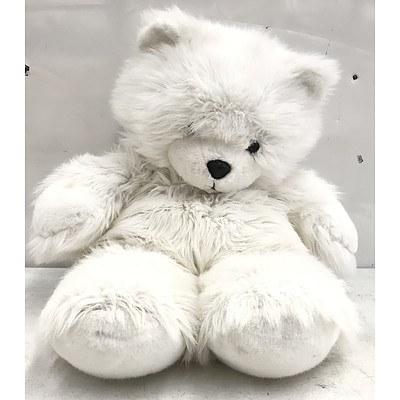 Large Plush White Teddy Bear