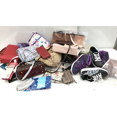 Bulk Lot of Brand New Handbags, Purses & Accessories - RRP Over $400